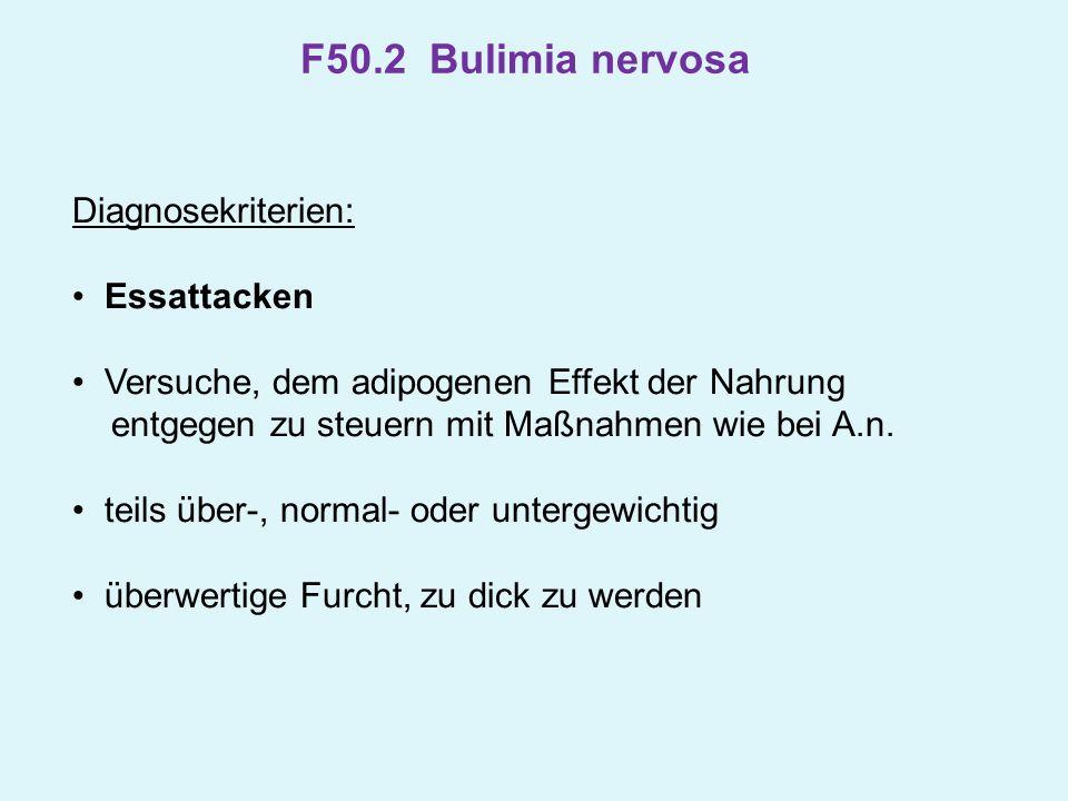 F50.2 Bulimia nervosa Diagnosekriterien: Essattacken