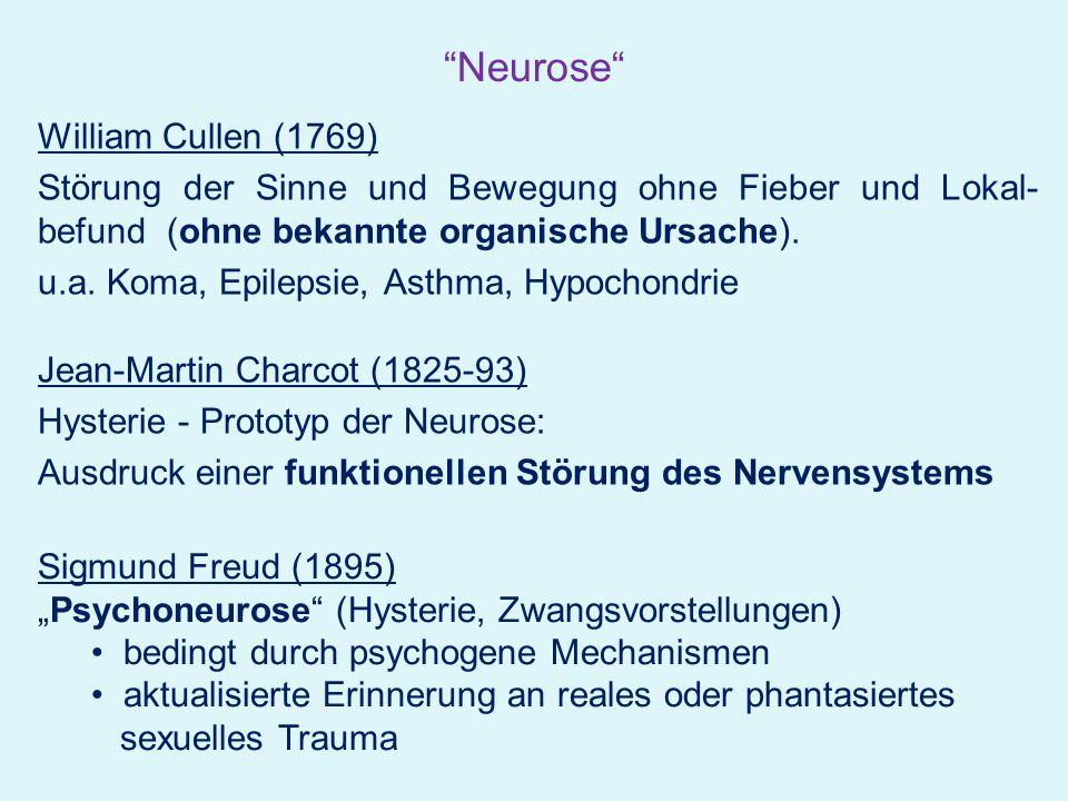 Neurose William Cullen (1769)