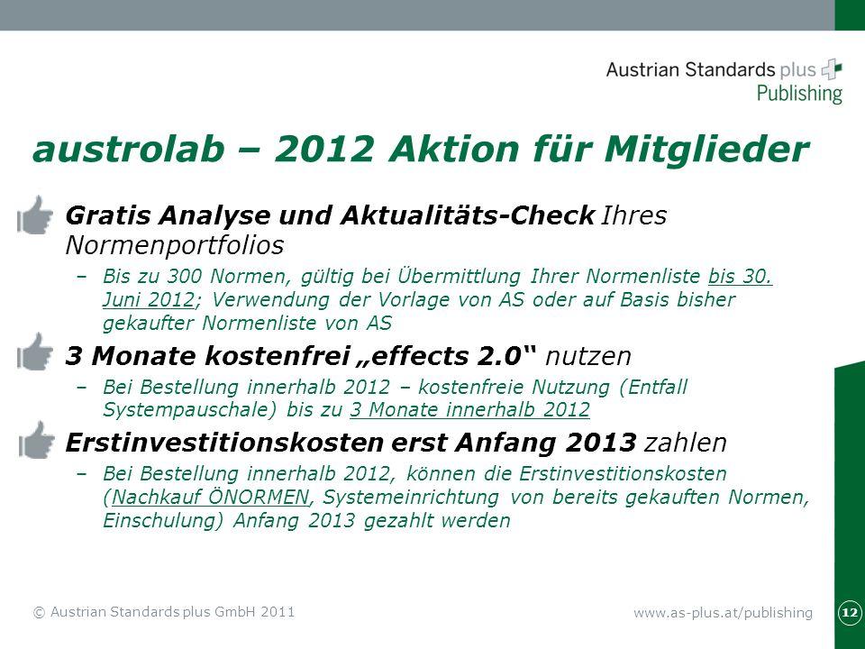 austrolab – 2012 Aktion für Mitglieder