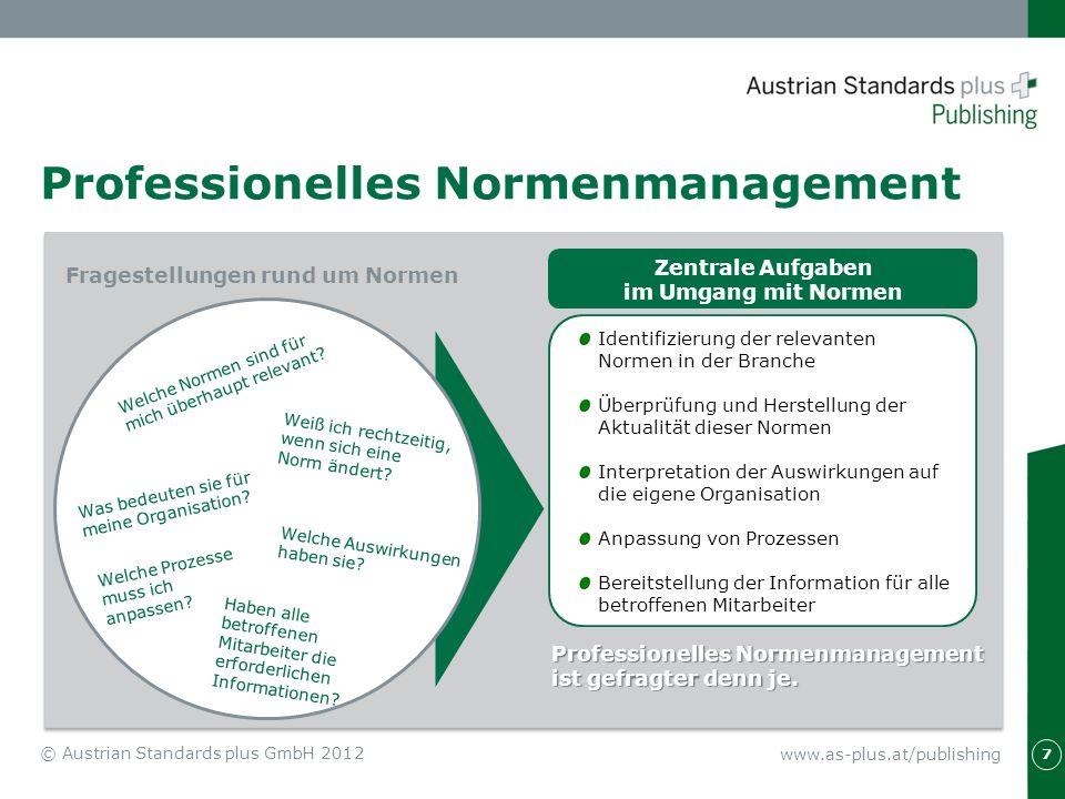 Professionelles Normenmanagement