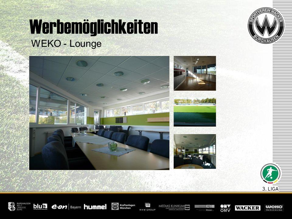 Werbemöglichkeiten WEKO - Lounge