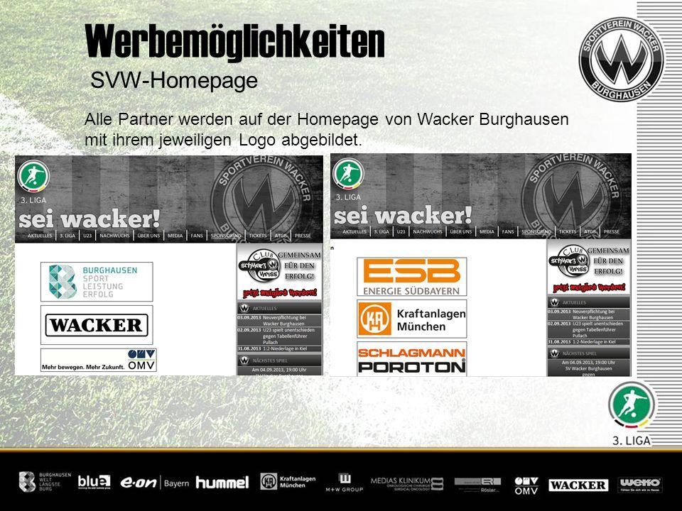Werbemöglichkeiten SVW-Homepage