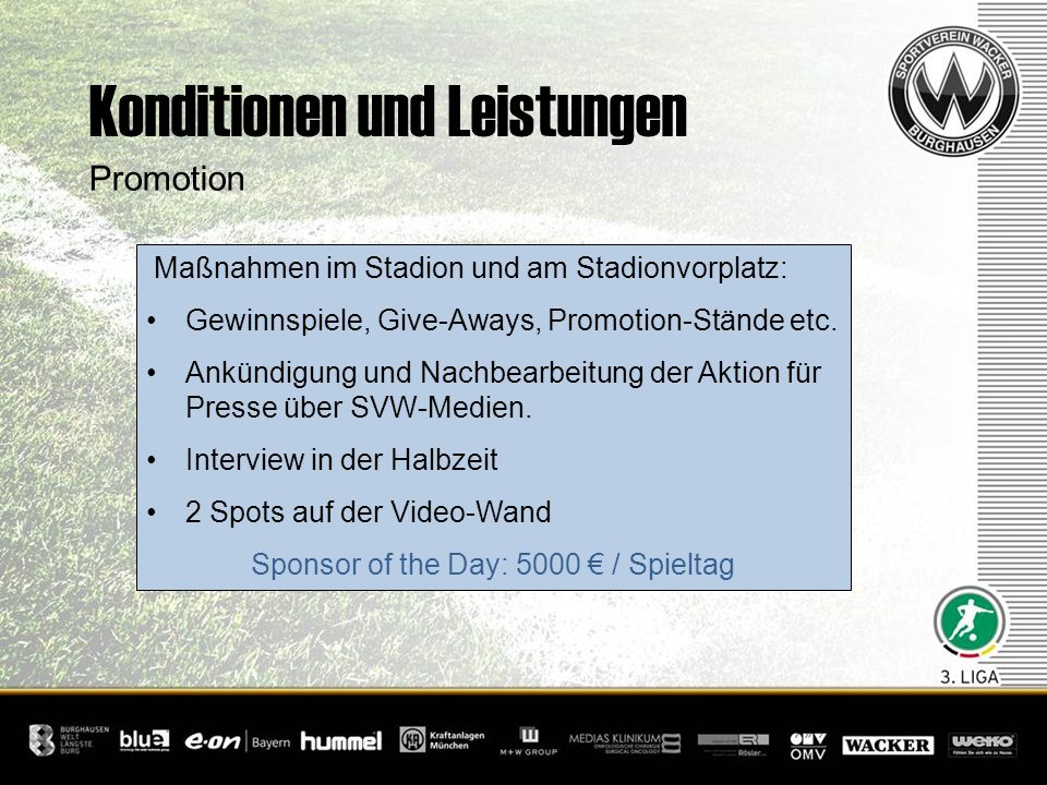 Sponsor of the Day: 5000 € / Spieltag