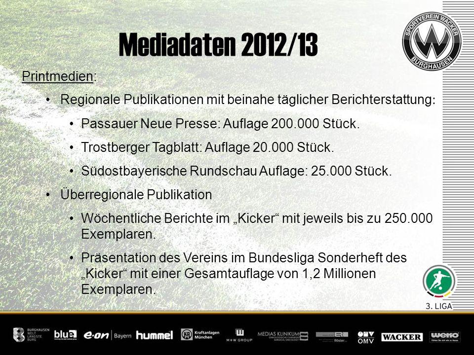 Mediadaten 2012/13 Printmedien:
