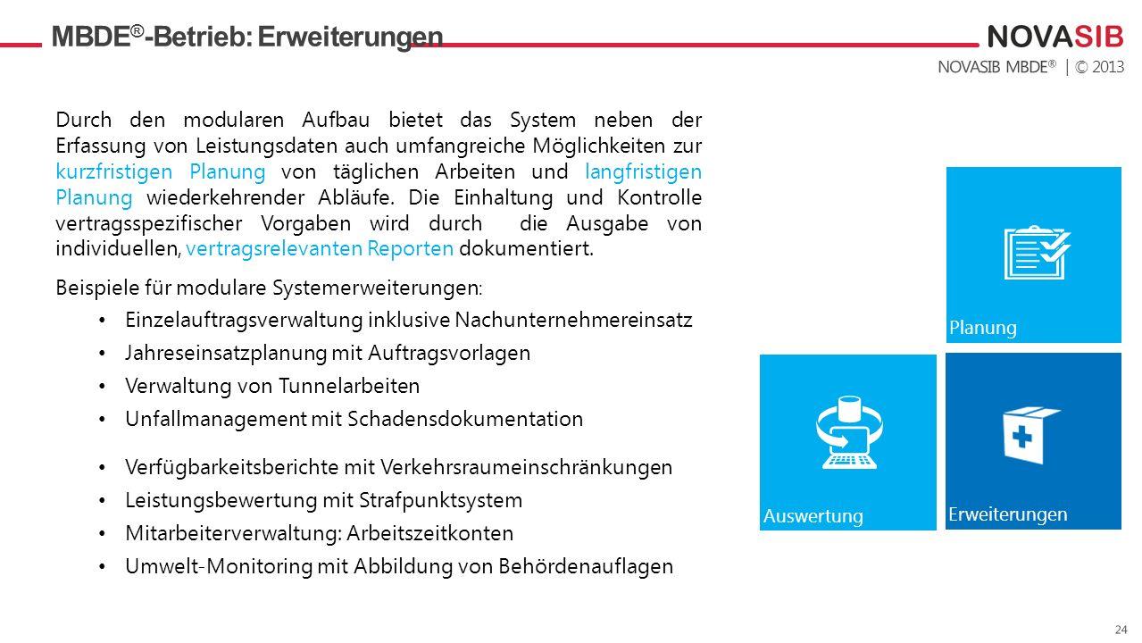 MBDE®-Betrieb: Erweiterungen