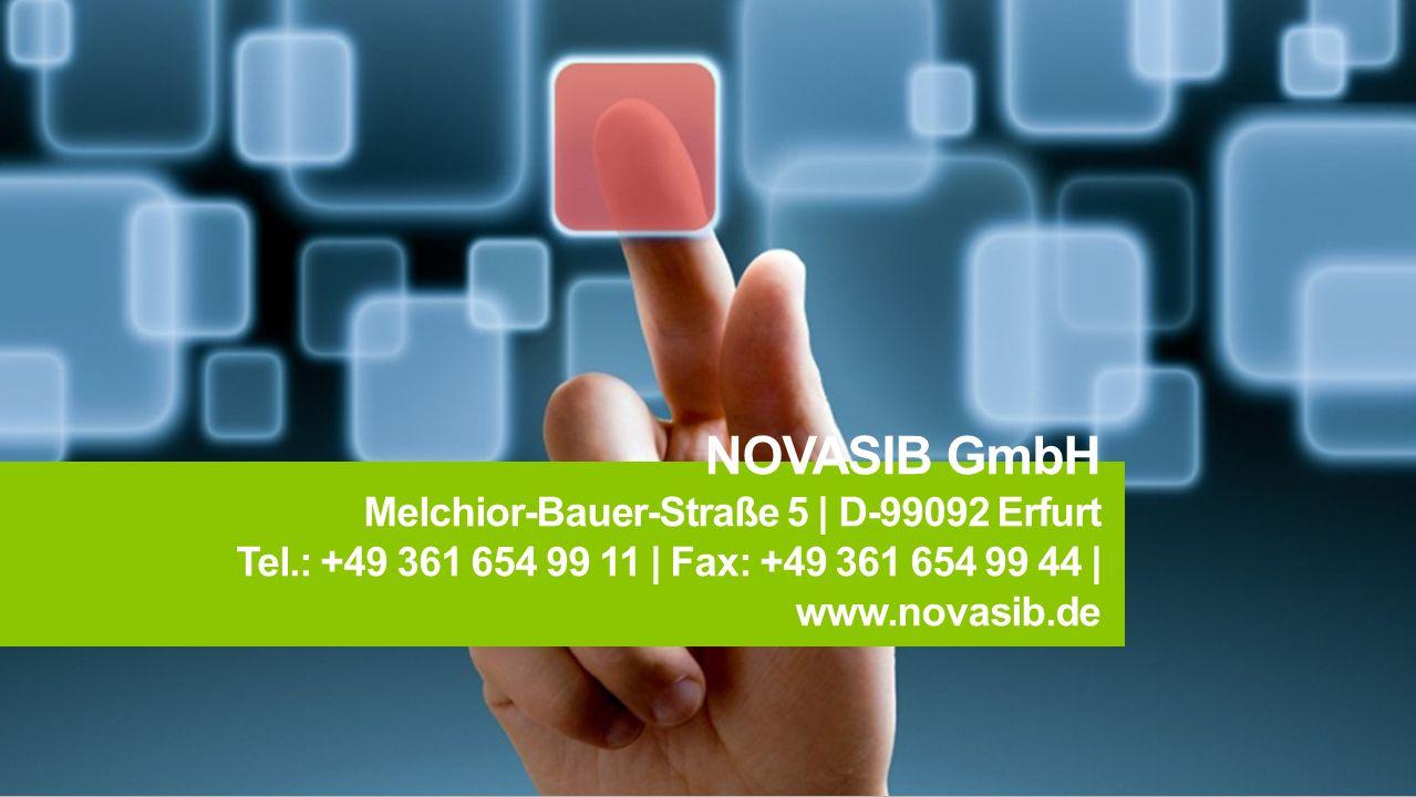 NOVASIB GmbH Melchior-Bauer-Straße 5 | D-99092 Erfurt