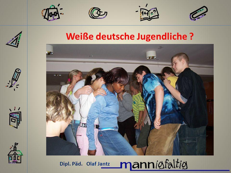 Weiße deutsche Jugendliche