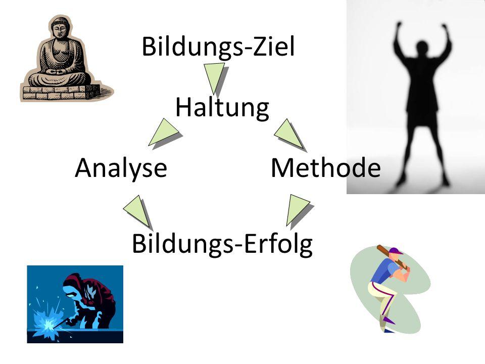 Bildungs-Ziel Haltung Analyse Methode Bildungs-Erfolg