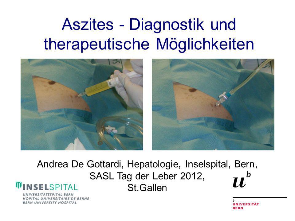 Aszites - Diagnostik und therapeutische Möglichkeiten