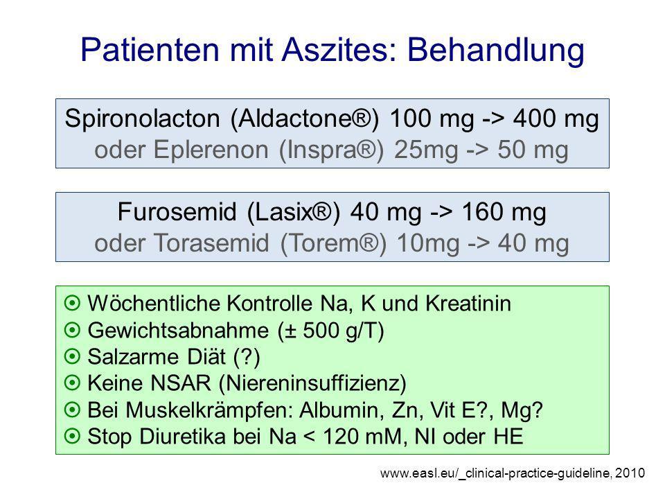 Patienten mit Aszites: Behandlung