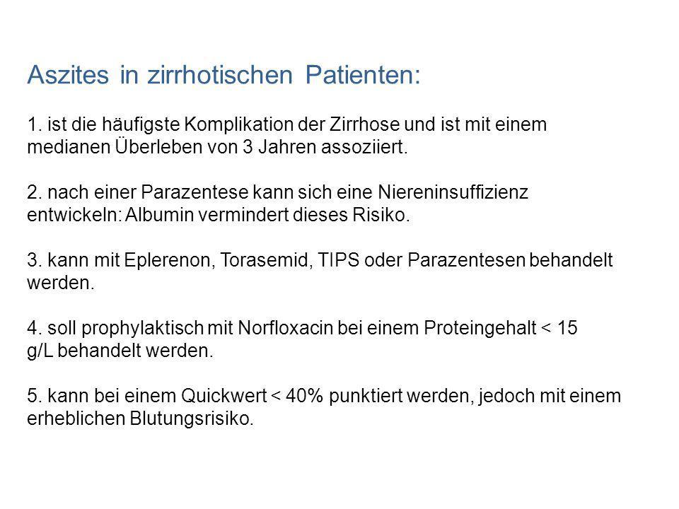 Aszites in zirrhotischen Patienten: