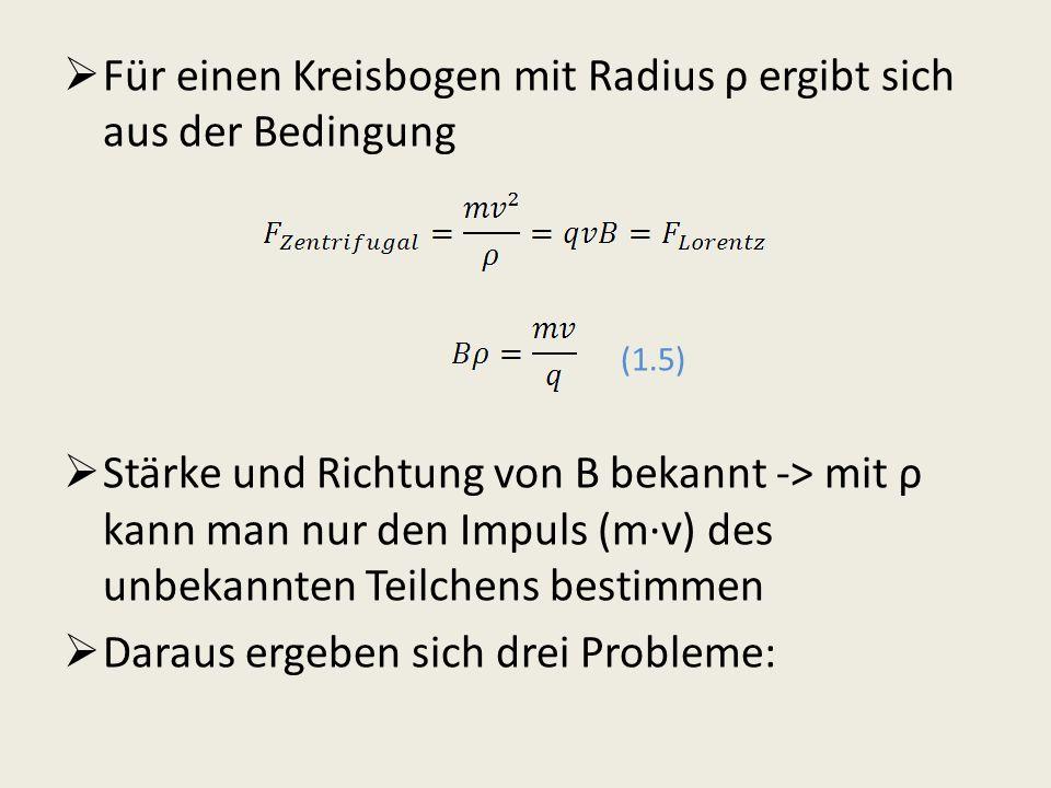 Für einen Kreisbogen mit Radius ρ ergibt sich aus der Bedingung (1.5)