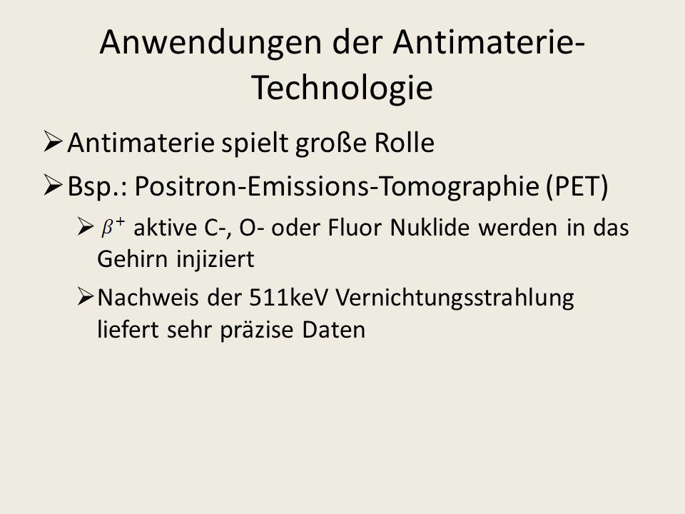 Anwendungen der Antimaterie-Technologie