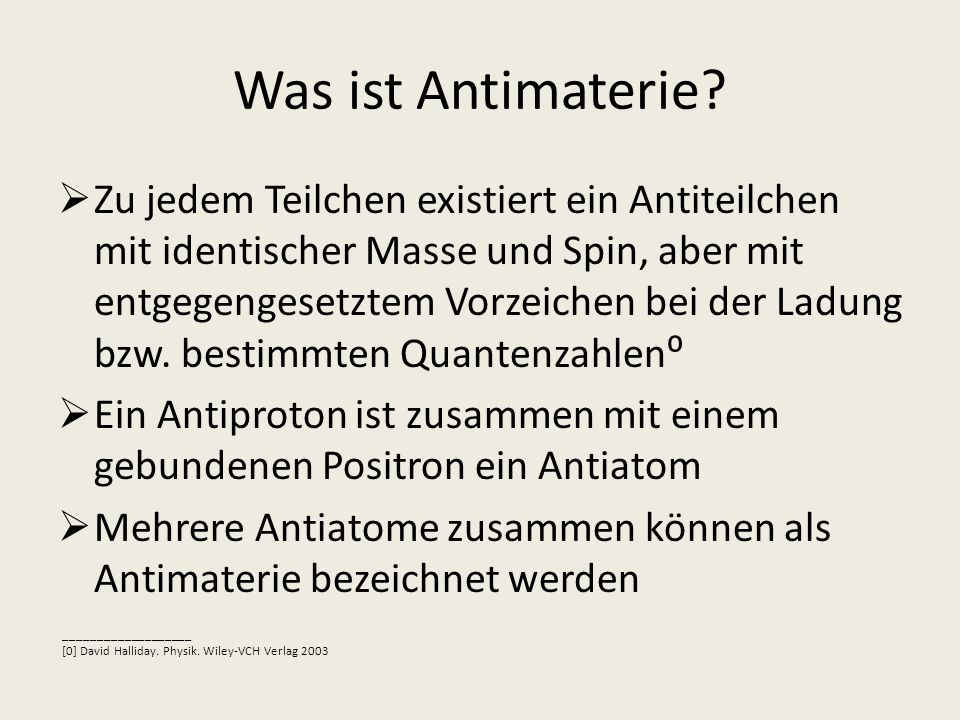 Was ist Antimaterie
