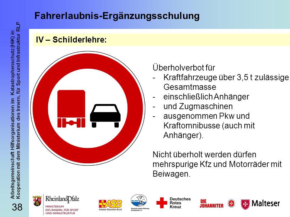 Fahrerlaubnis-Ergänzungsschulung