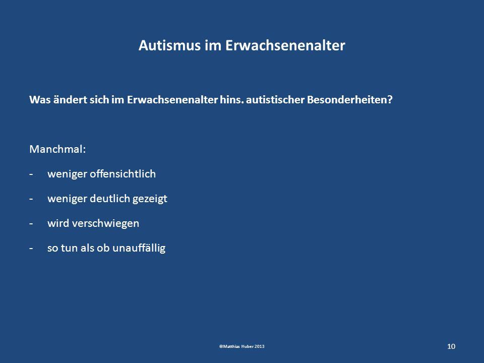 Autismus im Erwachsenenalter