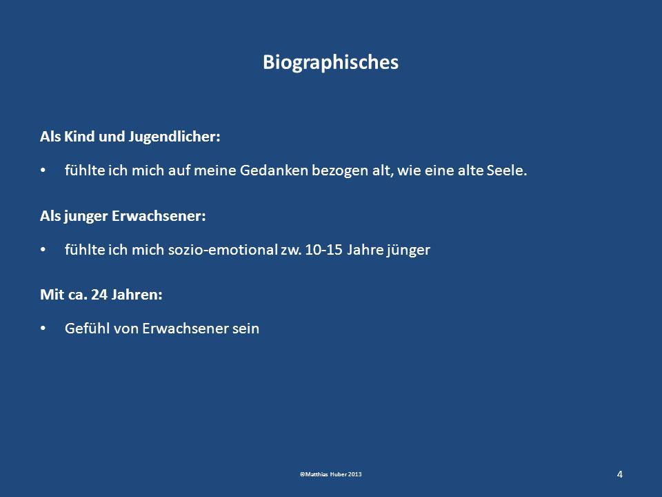 Biographisches Als Kind und Jugendlicher: