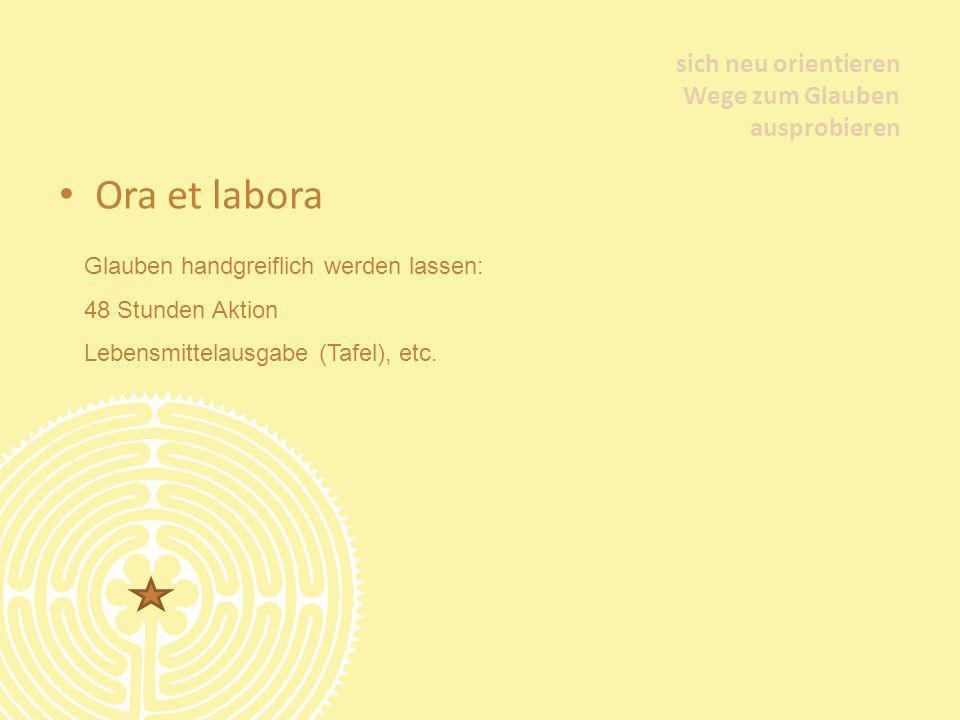 Ora et labora sich neu orientieren Wege zum Glauben ausprobieren