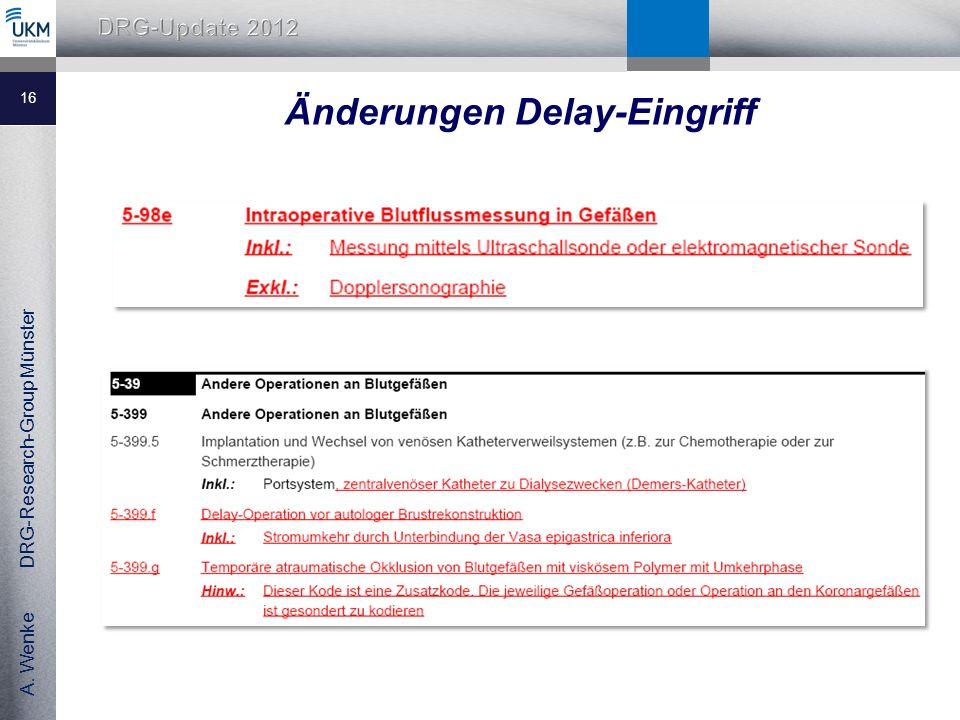 Änderungen Delay-Eingriff