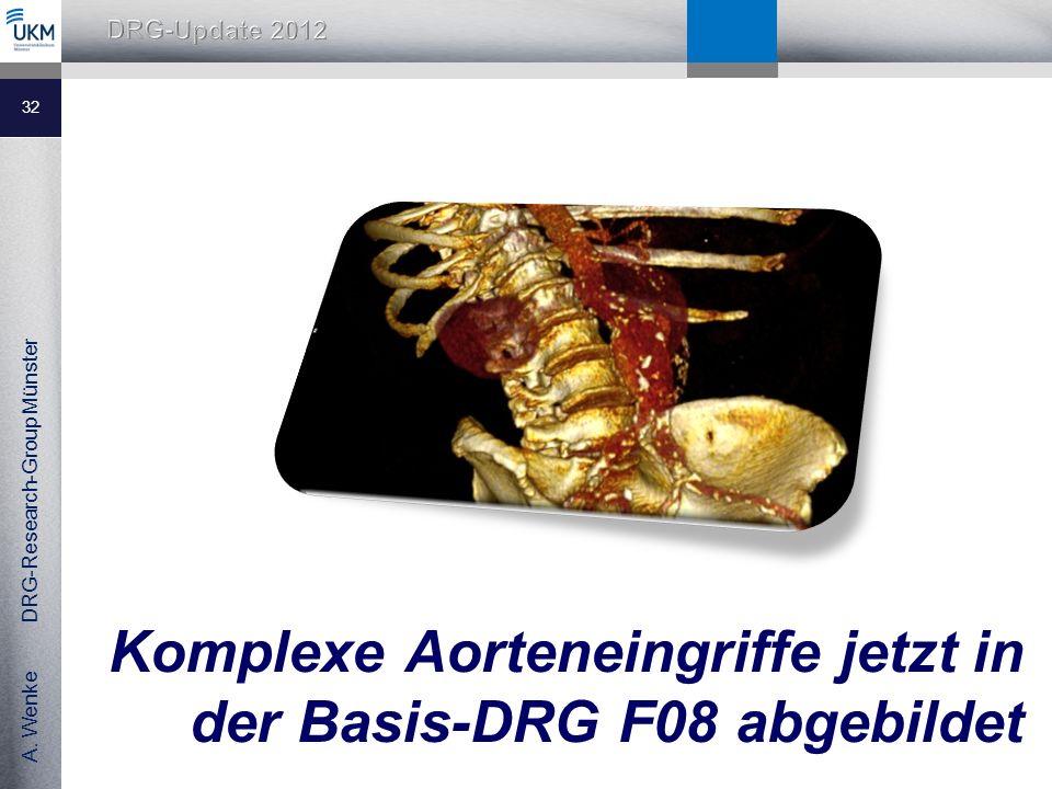 Komplexe Aorteneingriffe jetzt in der Basis-DRG F08 abgebildet