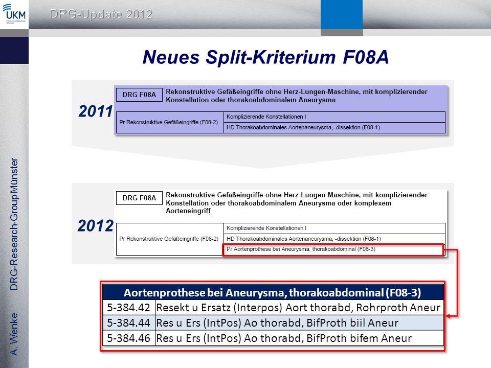 Neues Split-Kriterium F08A