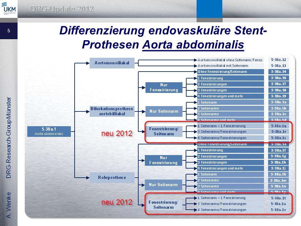 Differenzierung endovaskuläre Stent-Prothesen Aorta abdominalis