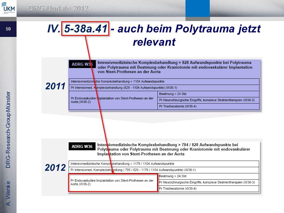 IV. 5-38a.41 - auch beim Polytrauma jetzt relevant