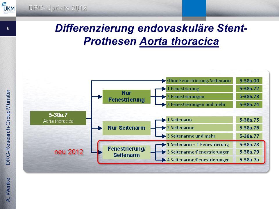 Differenzierung endovaskuläre Stent-Prothesen Aorta thoracica