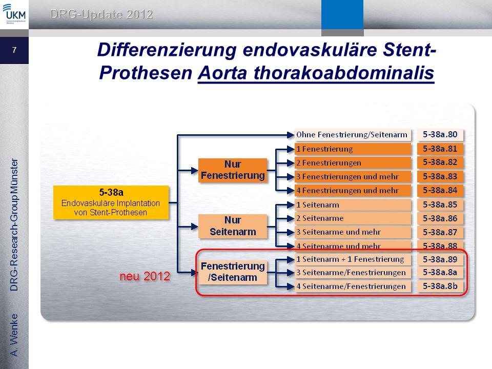 Differenzierung endovaskuläre Stent-Prothesen Aorta thorakoabdominalis