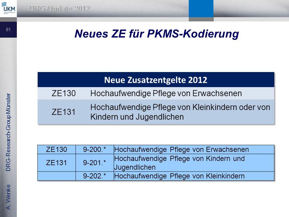 Neues ZE für PKMS-Kodierung