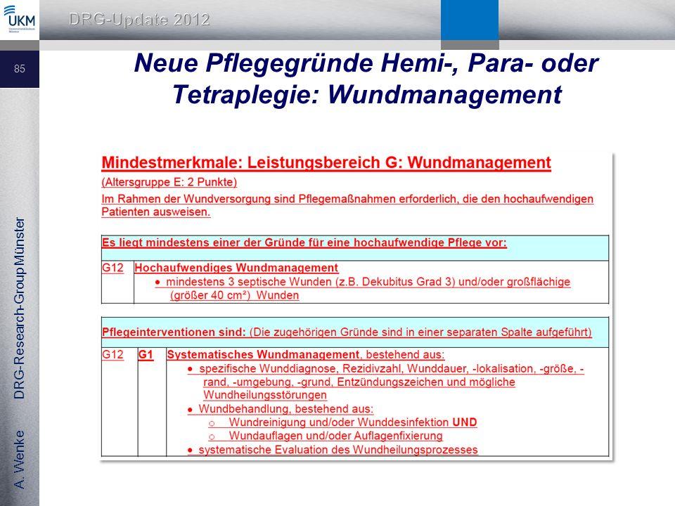 Neue Pflegegründe Hemi-, Para- oder Tetraplegie: Wundmanagement