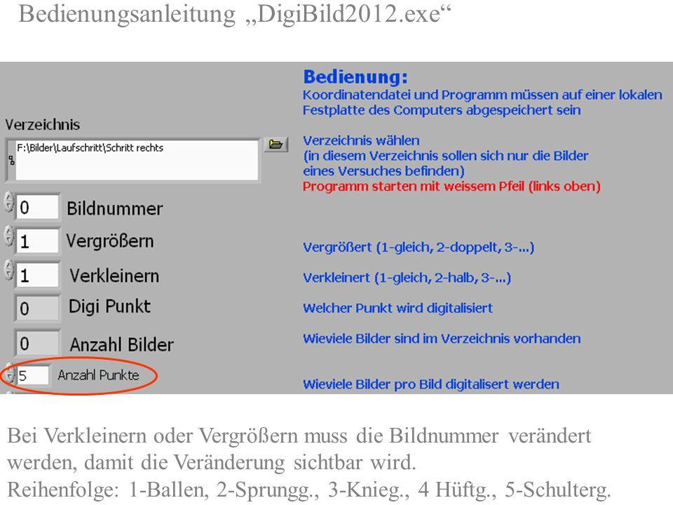 """Bedienungsanleitung """"DigiBild2012. exe http://sport1. uibk. ac"""