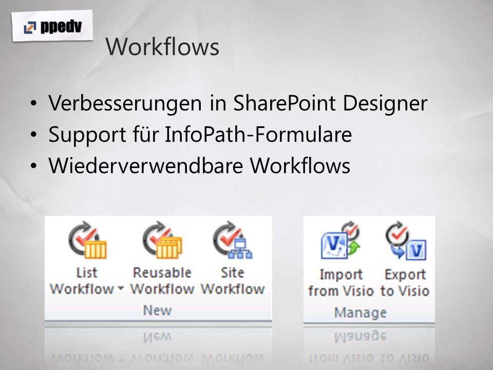 Workflows Verbesserungen in SharePoint Designer