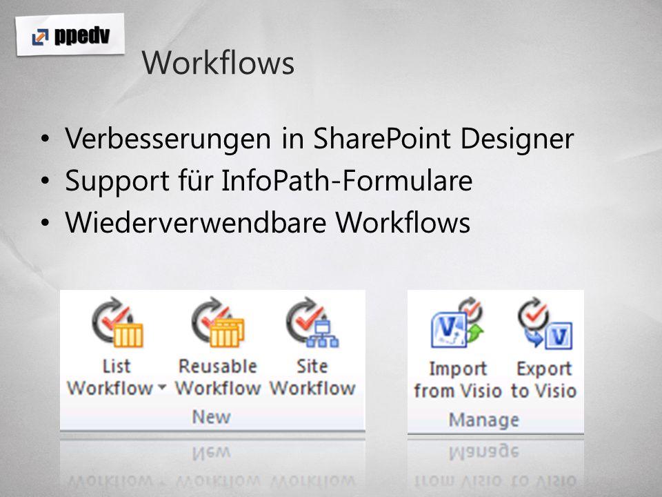 Workflows Verbesserungen in SharePoint Designer