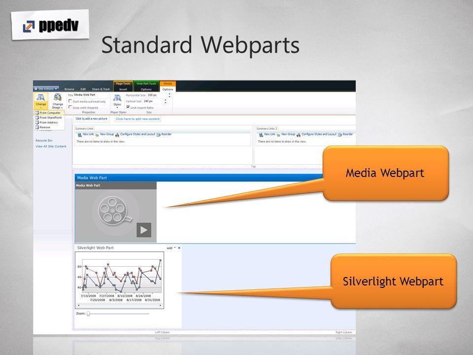 Standard Webparts Media Webpart Silverlight Webpart