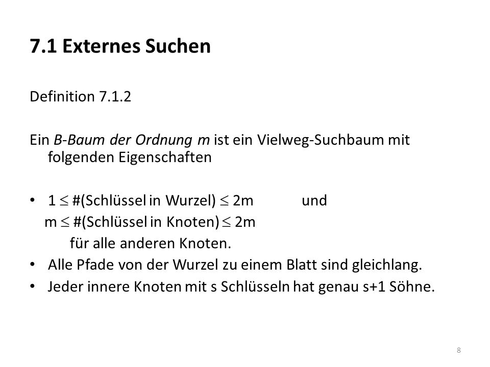 7.1 Externes Suchen Definition 7.1.2