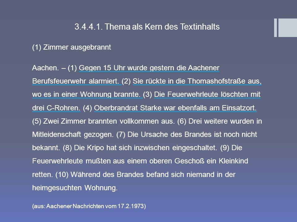 3.4.4.1. Thema als Kern des Textinhalts