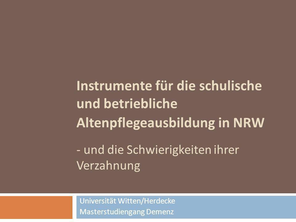 Universität Witten/Herdecke Masterstudiengang Demenz