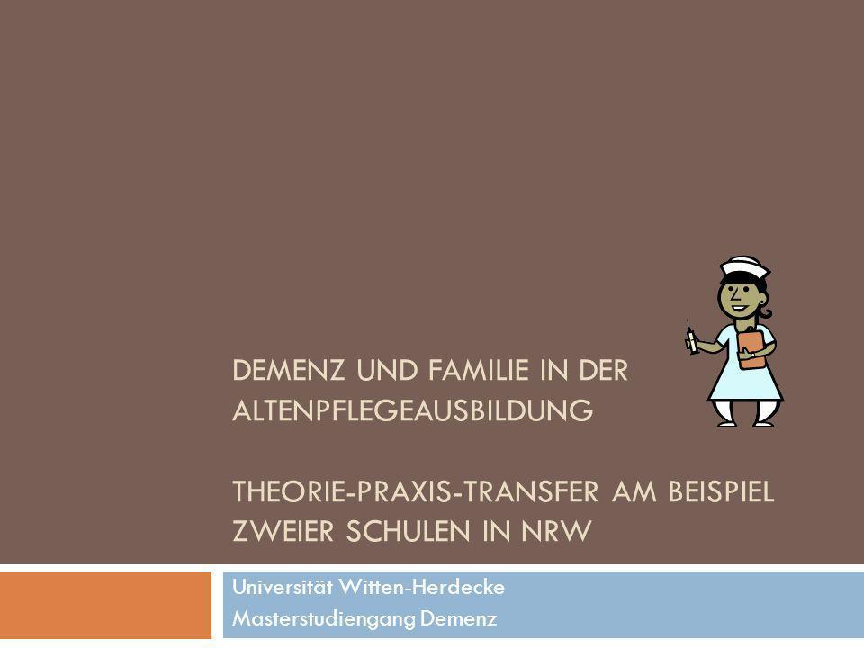 Universität Witten-Herdecke Masterstudiengang Demenz