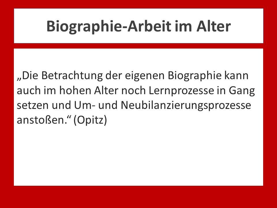 Biographie-Arbeit im Alter