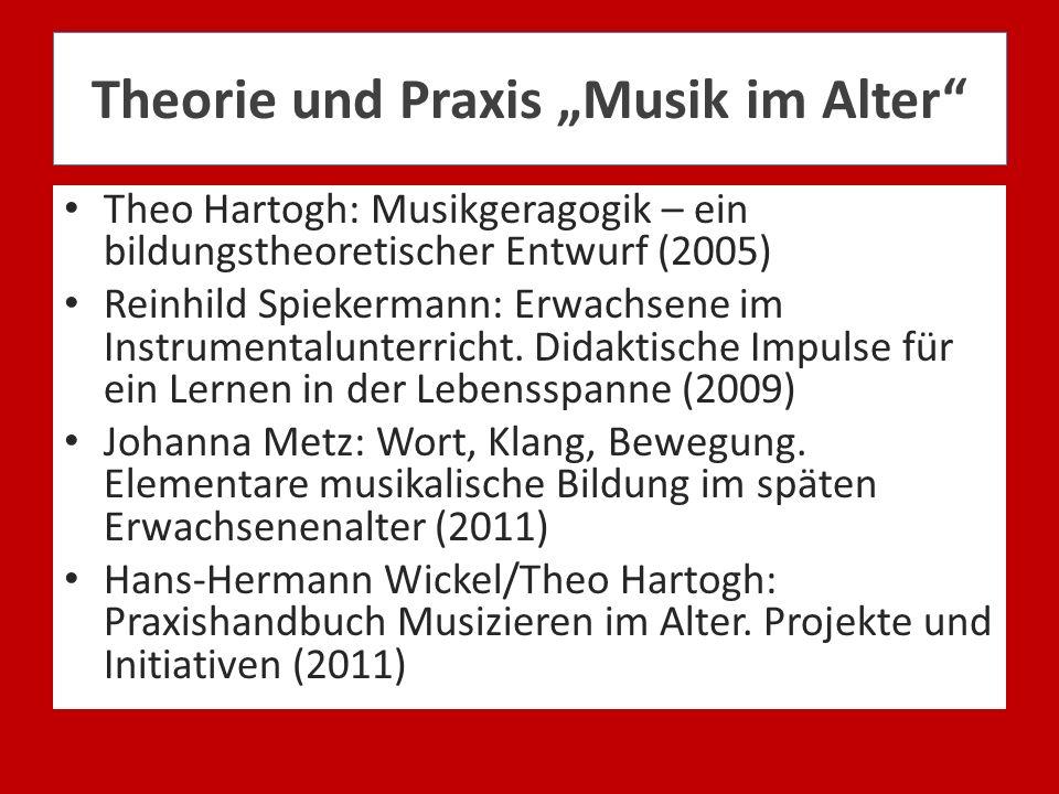 """Theorie und Praxis """"Musik im Alter"""