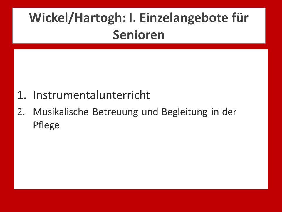 Wickel/Hartogh: I. Einzelangebote für Senioren