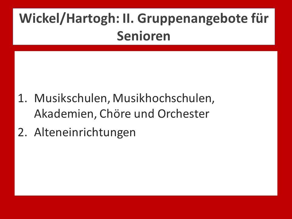 Wickel/Hartogh: II. Gruppenangebote für Senioren