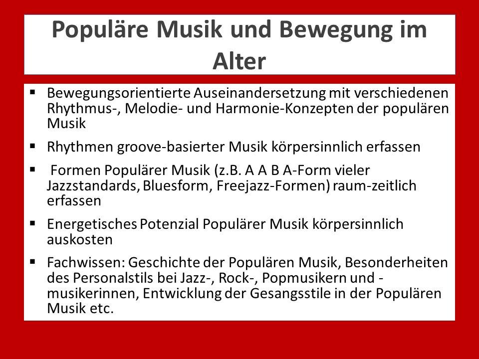 Populäre Musik und Bewegung im Alter