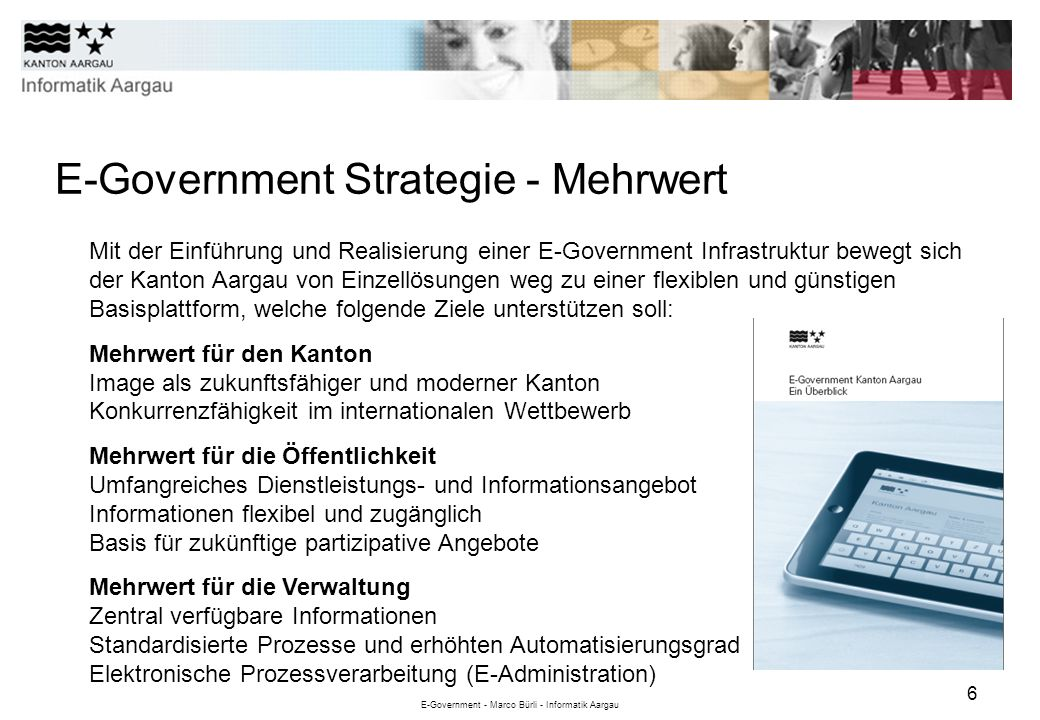 E-Government Strategie - Mehrwert