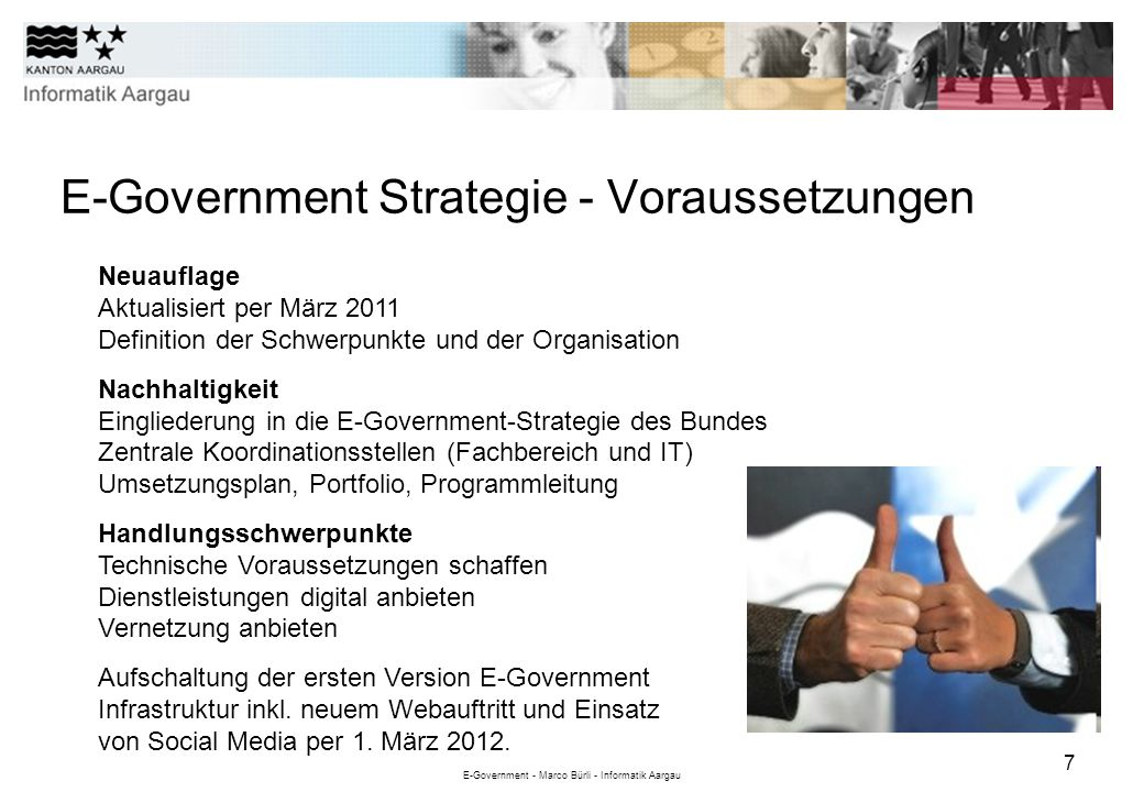 E-Government Strategie - Voraussetzungen