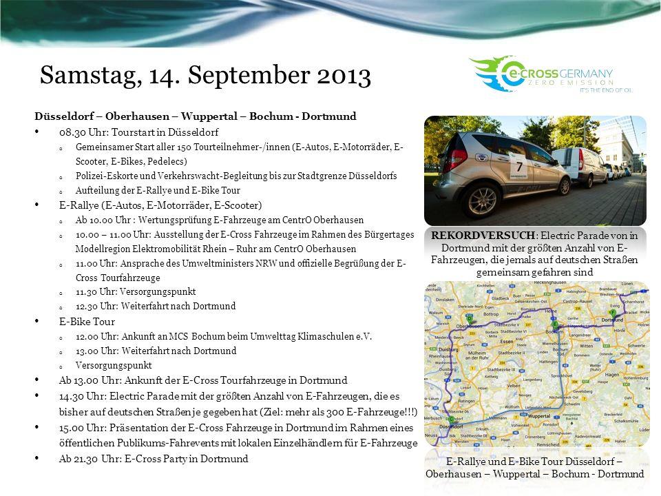 Samstag, 14. September 2013 Worin besteht das Projekt