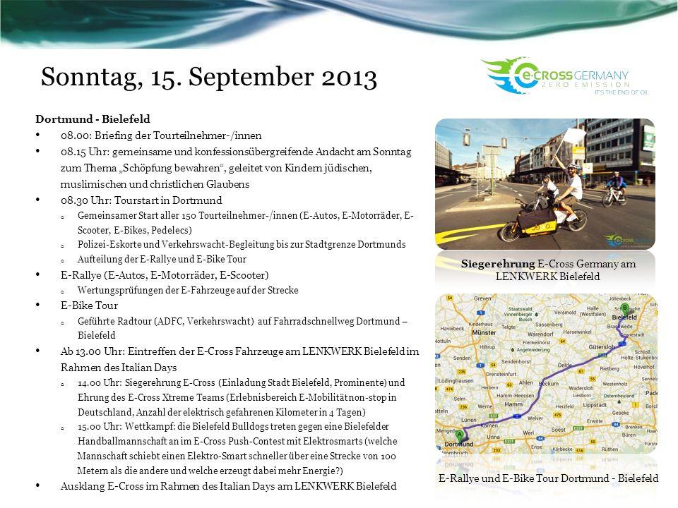 Sonntag, 15. September 2013 Worin besteht das Projekt