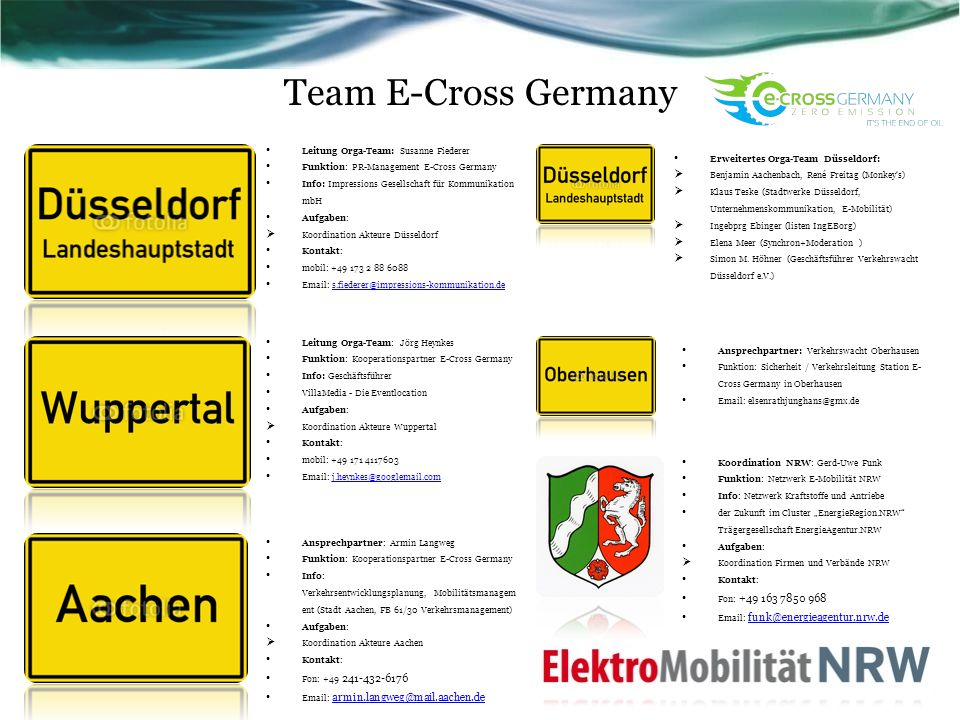 Team E-Cross Germany Worin besteht das Projekt