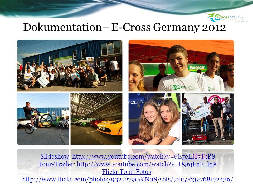 Dokumentation– E-Cross Germany 2012
